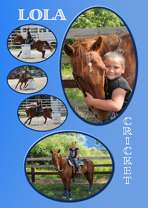 Pictures of a young girl and her horse
